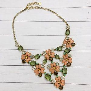 Stella & Dot gemstone flower necklace
